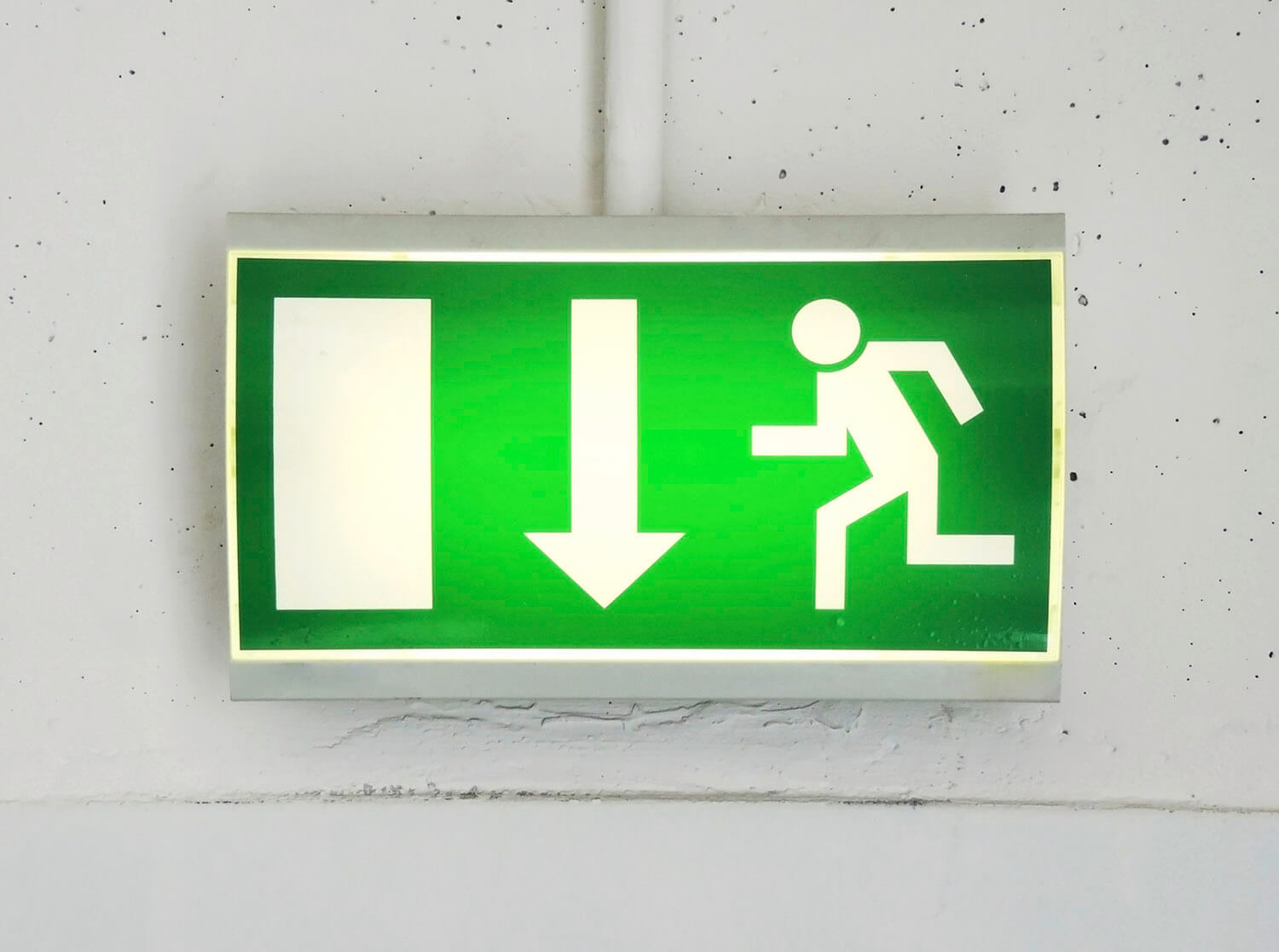 Exit or emergency exit sign